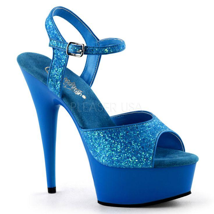 Pleaser Adore-701UVG Exotic Dancer Shoes. 7 (17.75cm) Heel, 2 3/4 (7cm