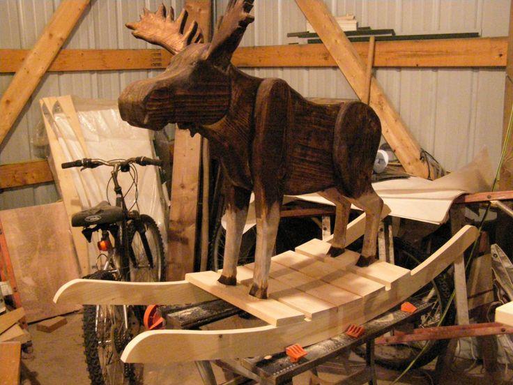 Wooden Rocking Moose Bing Images