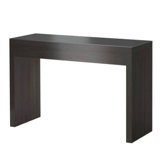 Ikea MALM dressing table, black brown  Makeup Tools Accessories Stor