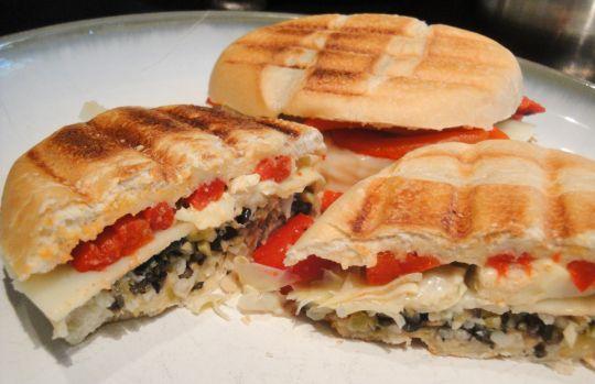 Meatless Muffaletta Panini | Sandwiches, Wraps & Burgers | Pinterest