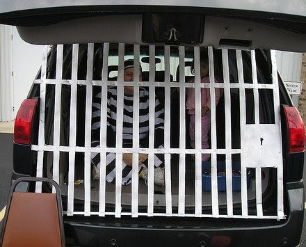Super cute trunk or treat jail cell idea | Faith | Pinterest