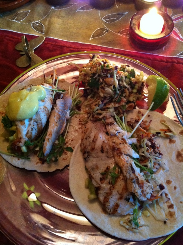Fish Tacos with Spicy Peanut Slaw | My EpicCure (foods I've made) | P ...