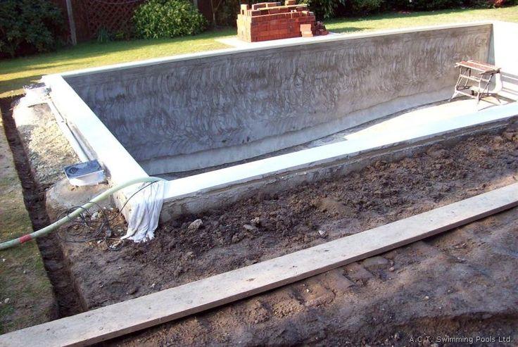 Concrete Block Pool Construction Extras Pinterest