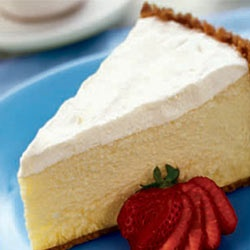 Sour Cream topping Cheesecake Recipe.