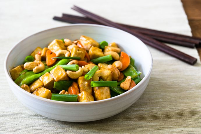 Cashew Tofu Carrots and Snow Pea Stir-Fry Recipe Replace chicken stock ...