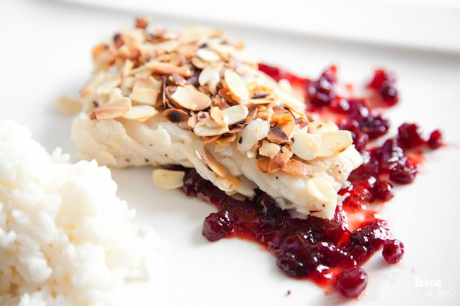 Almond Crusted Cod with Cranberry Sauce | Main Dish ~ From Water | Pi ...