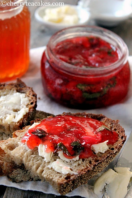 Unique Strawberry basil freezer jam?! | Toppings - Jams and Jellies ...