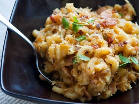 macaroni and cheese alla carbonara | Things that look good | Pinterest