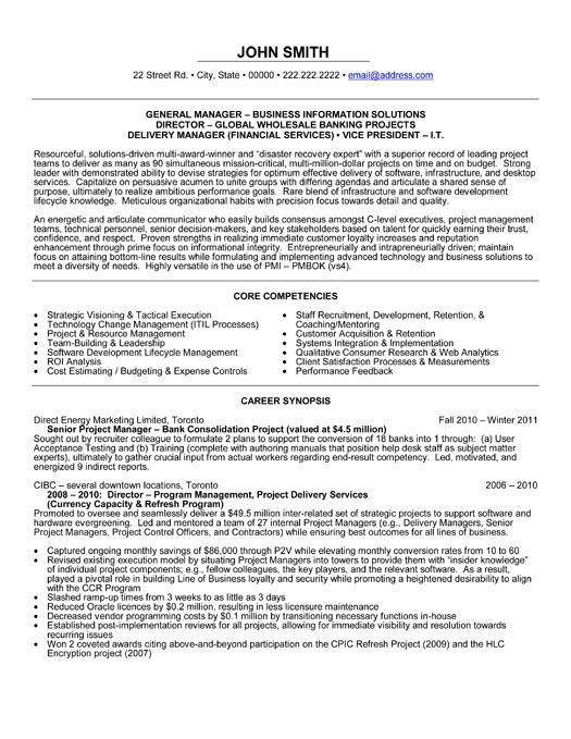 Generic resume examples