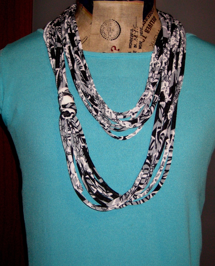recycled t shirt necklace scarf