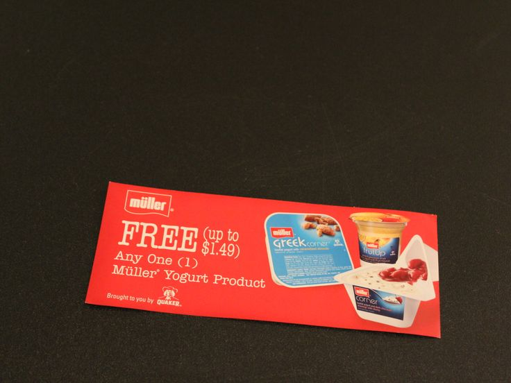 1 Voucher for a FREE Muller Yogurt Product