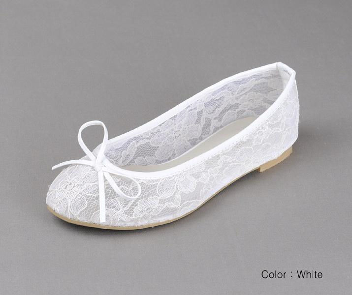 White Lace Ballet Flat