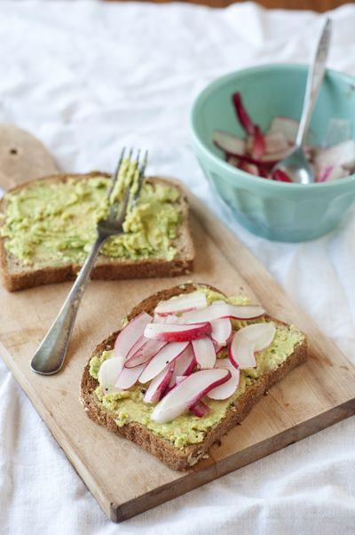 Radish and Avocado Sandwiches
