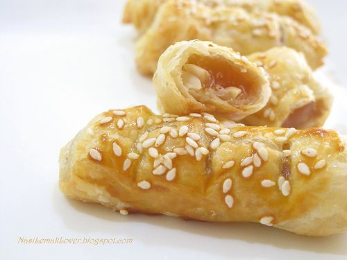Baked puff pastry nian gao   Asian food   Pinterest