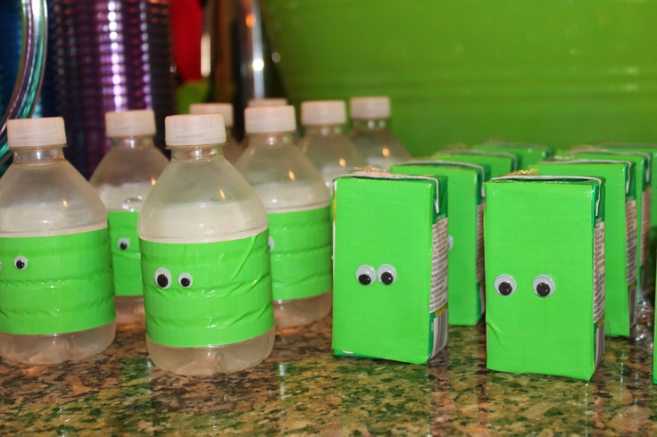 Monster Water Bottles and Juice Boxes | Monster Inc Party Ideas ...