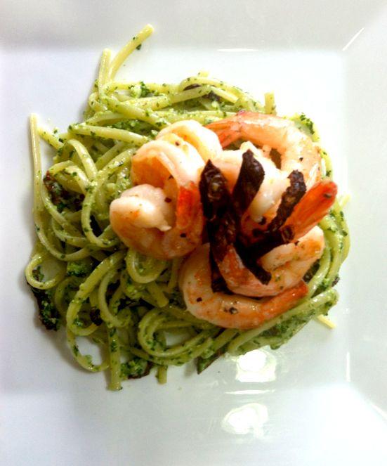 Sun-Dried Tomato Pesto Linguine With Shrimp Scampi @ http://www ...