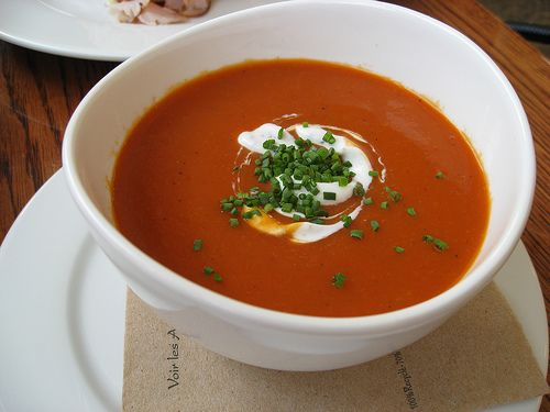 roasted red pepper soup... forget everything you thought you knew ...