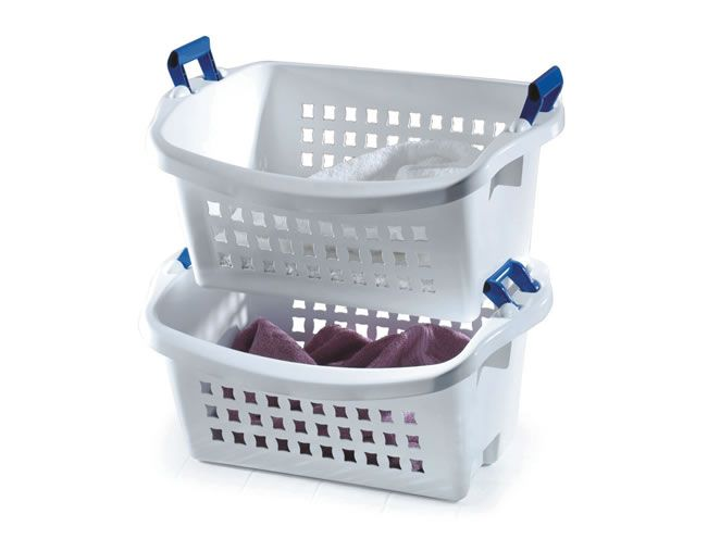 Stack'n Sort Laundry Basket | Rubbermaid | Organization ...