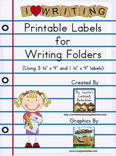 FREE printable labels for writing folders
