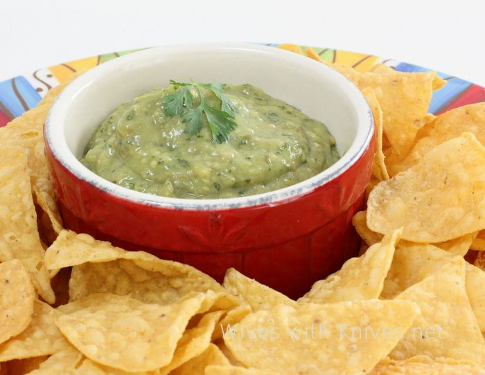 Roasted Tomatillo and Avocado Salsa Verde | Wives with Knives