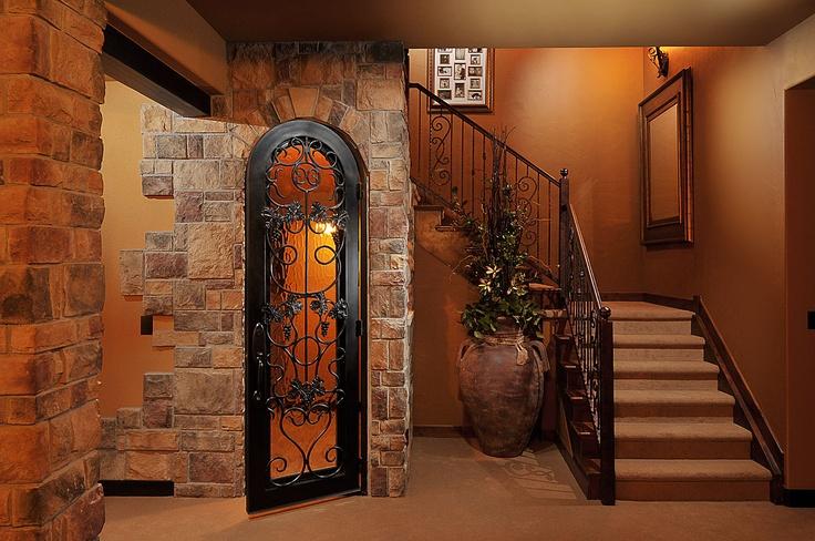 Landing and wine cellar home basement attic pinterest for Home cellar ideas
