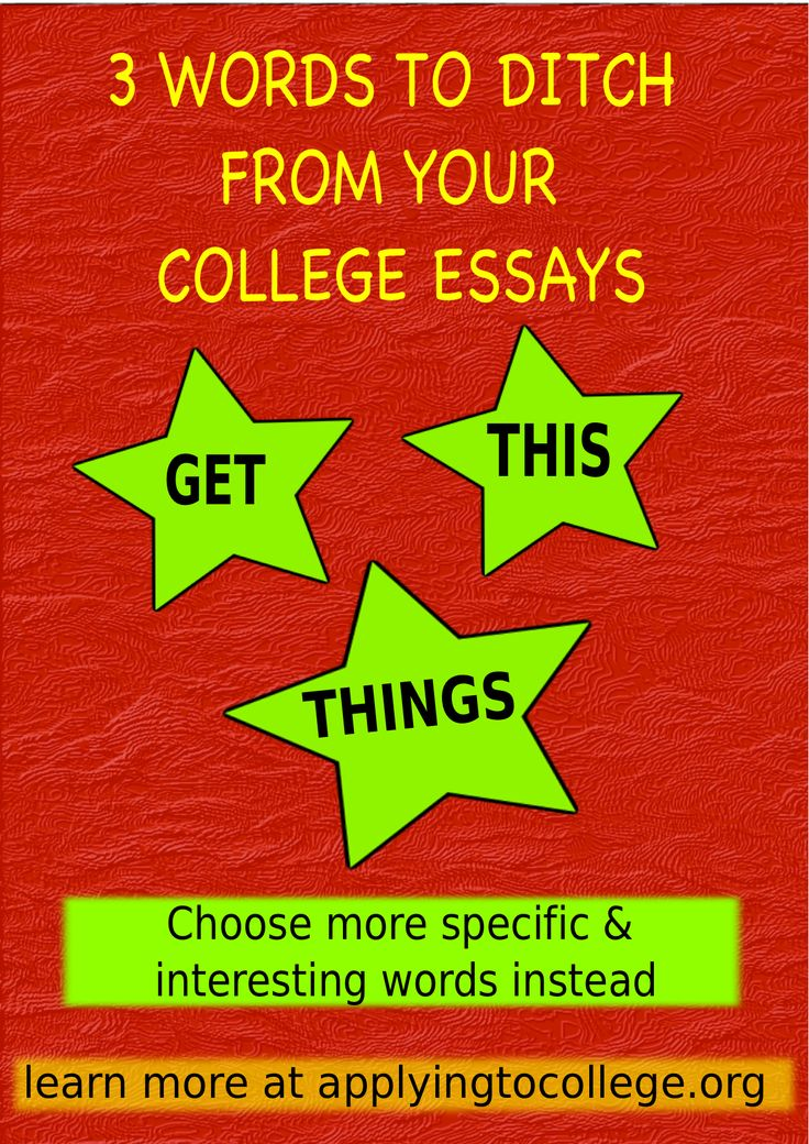 writing an admission essay useful words