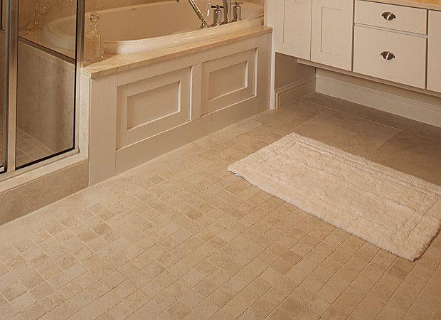 Off white ceramic tile bathroom floor arizona house for White ceramic tile bathroom