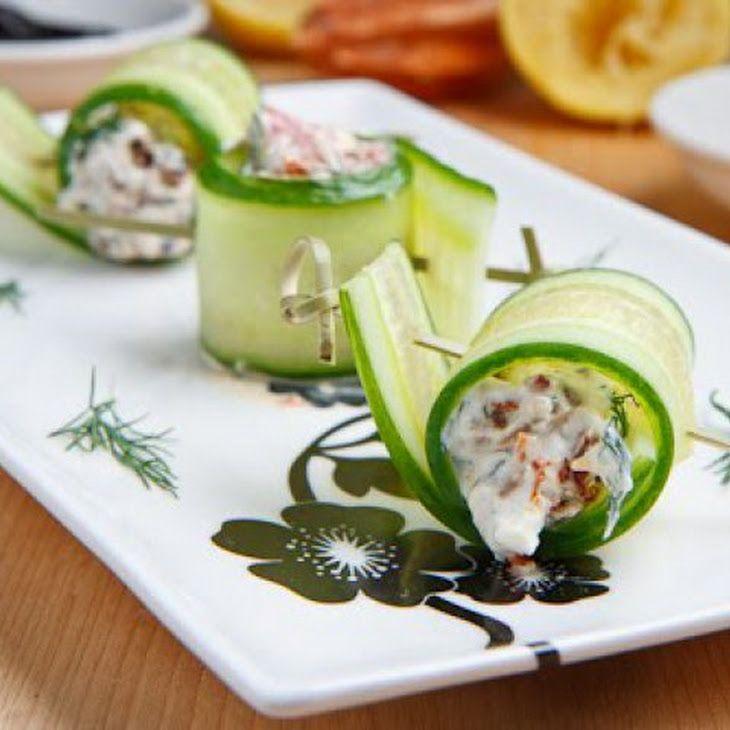 Cucumber and Feta Rolls Recipe | Yummie | Pinterest