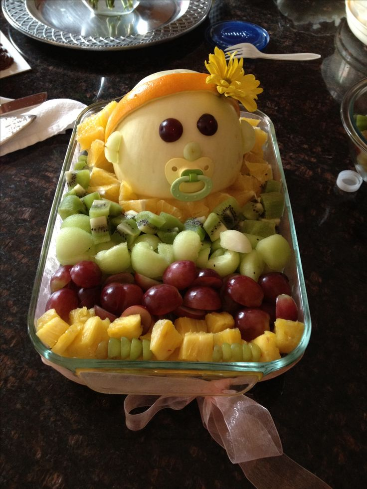 baby shower fruit bowl food novelty holiday pinterest