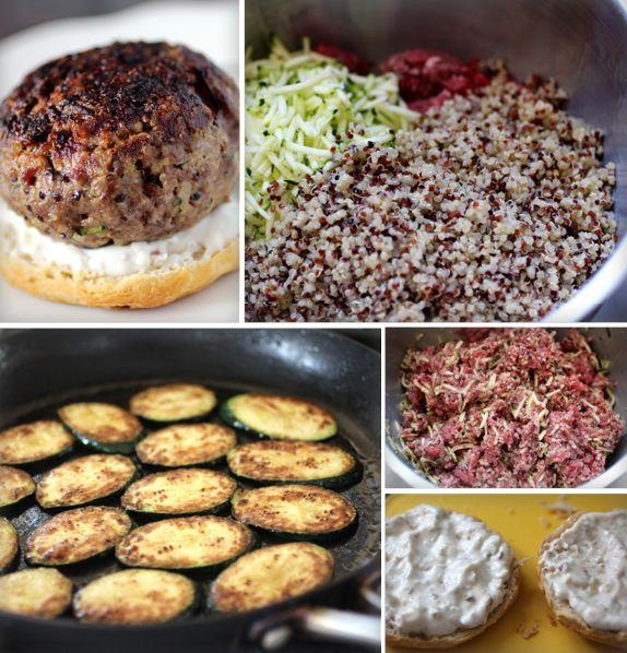 Zucchini Quinoa Burgers #recipes | Seasonal Cooking | Pinterest