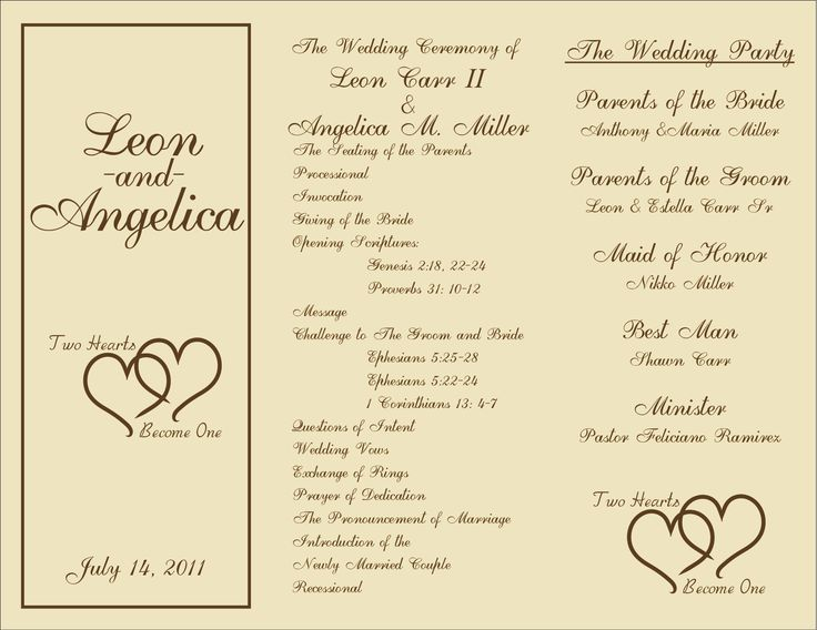Search Results For Free Wedding Program Templates Calendar 2015