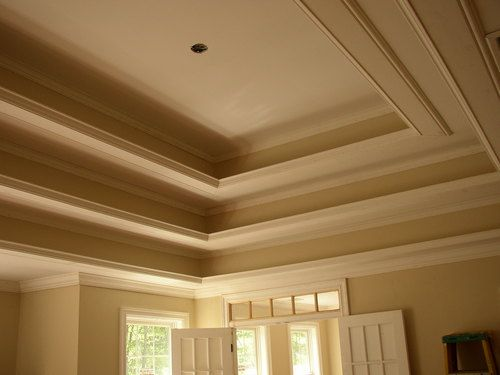 Master Bedroom Tray Ceiling With Crown Moulding