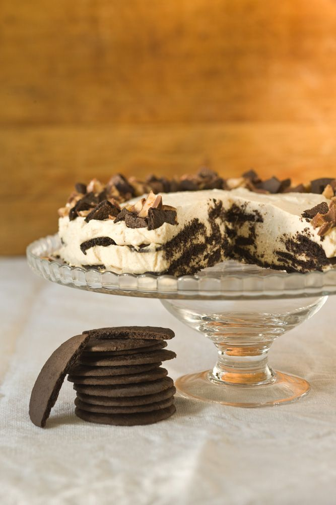 chocolate peanut butter icebox cake peanut butter cups this chocolate ...