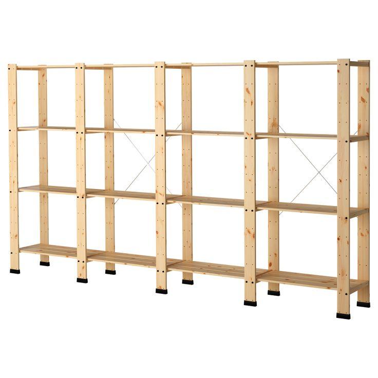gorm 4 sections with shelves ikea garage workshop
