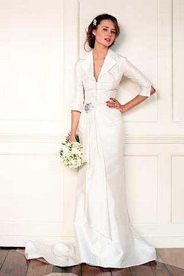 Simple modern wedding dresses for the older bride for Simple modern wedding dress