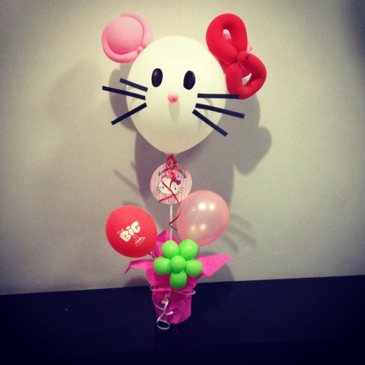 Hello kitty centerpiece morningstar balloons ph