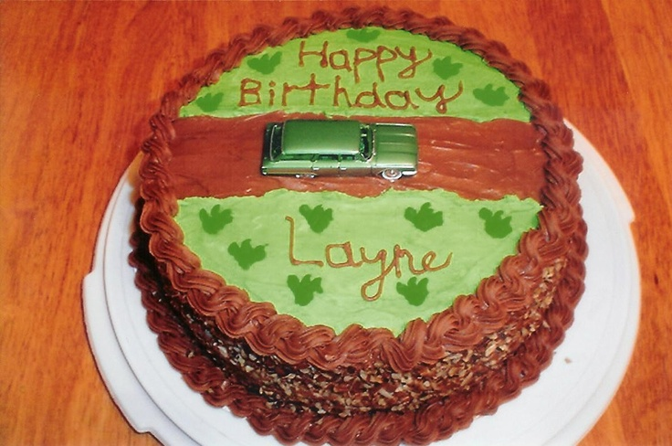 Decorating Ideas For German Chocolate Cake : Car on Road German Chocolate Cake Cakes/Cake Decorating ...