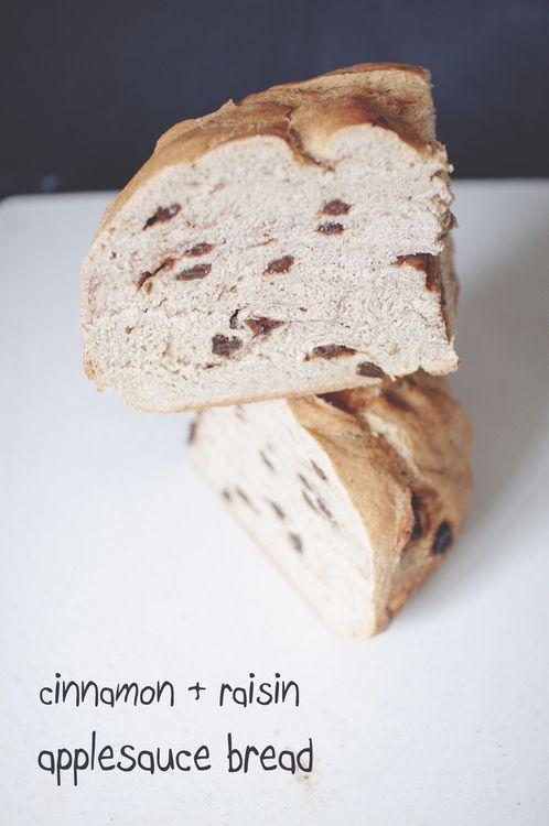 Cinnamon Raisin Applesauce Bread | breads | Pinterest