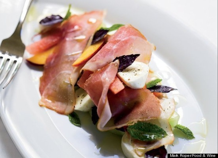 Peach, Mozzarella, And Crispy Prosciutto Salad Recipes — Dishmaps