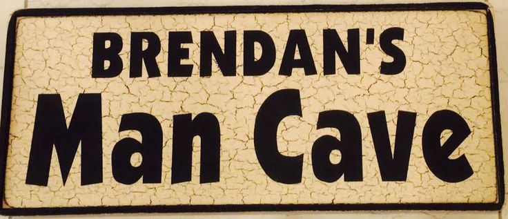 Man Caves Names : Custom man cave name wood sign