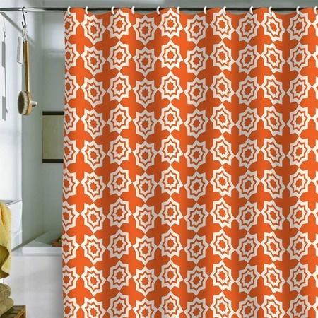 Moroccan mirage orange shower curtain home sweet home pinterest