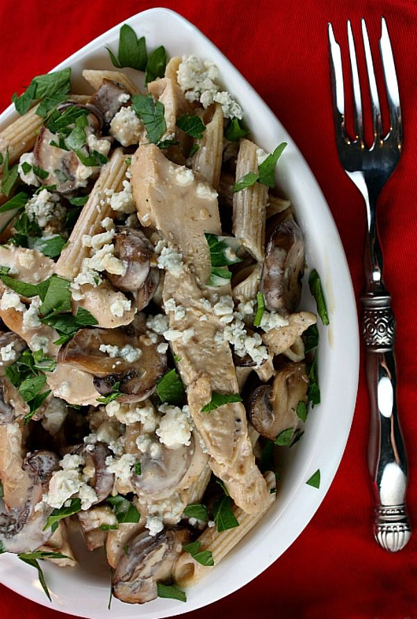 Chicken with marsala Mushrooms and gorgonzola