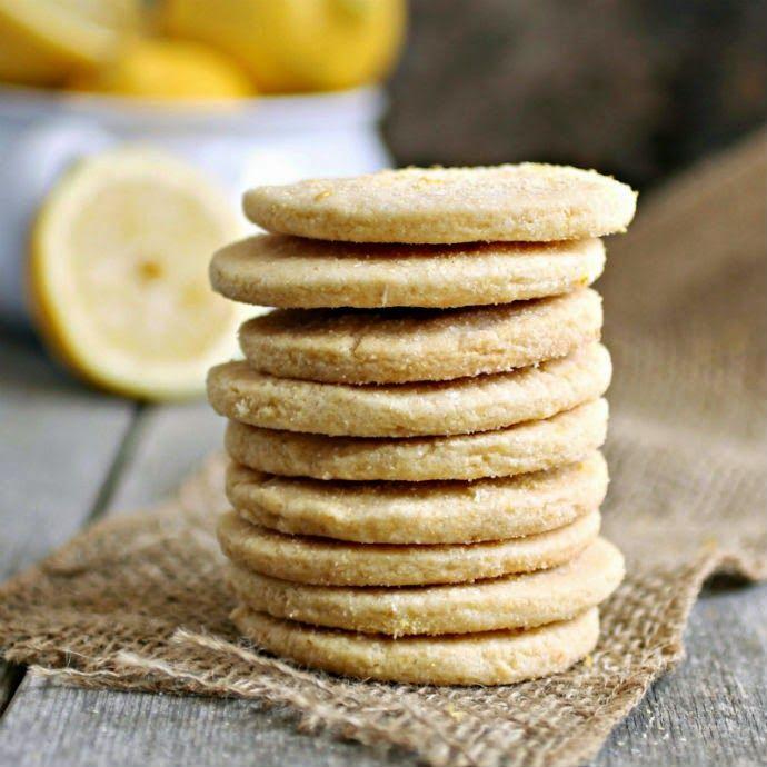 Lemon Cornmeal Shortbread Cookies | Sweet | Pinterest
