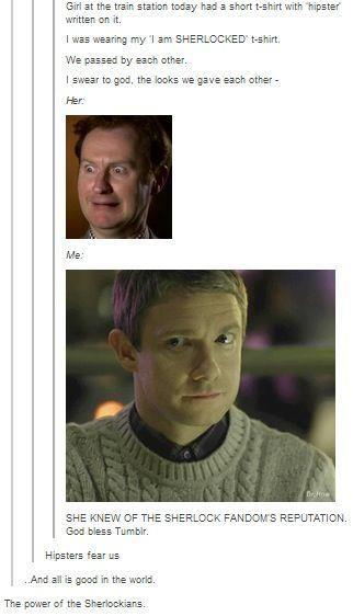 haha. The power of the Sherlockians