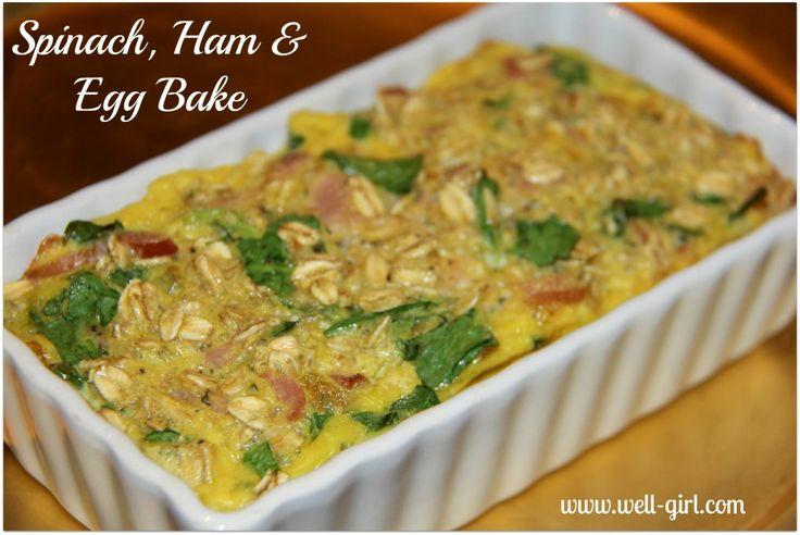 Spinach, Ham & Egg Bake   Food   Pinterest