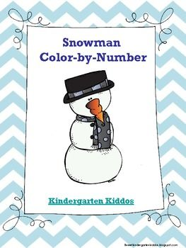 Snowman Color by Number   TK Winter   Pinterest