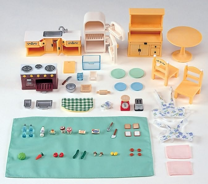 Pin by mary cassenti on lucy 39 s calico critters pinterest for Kitchen kit set
