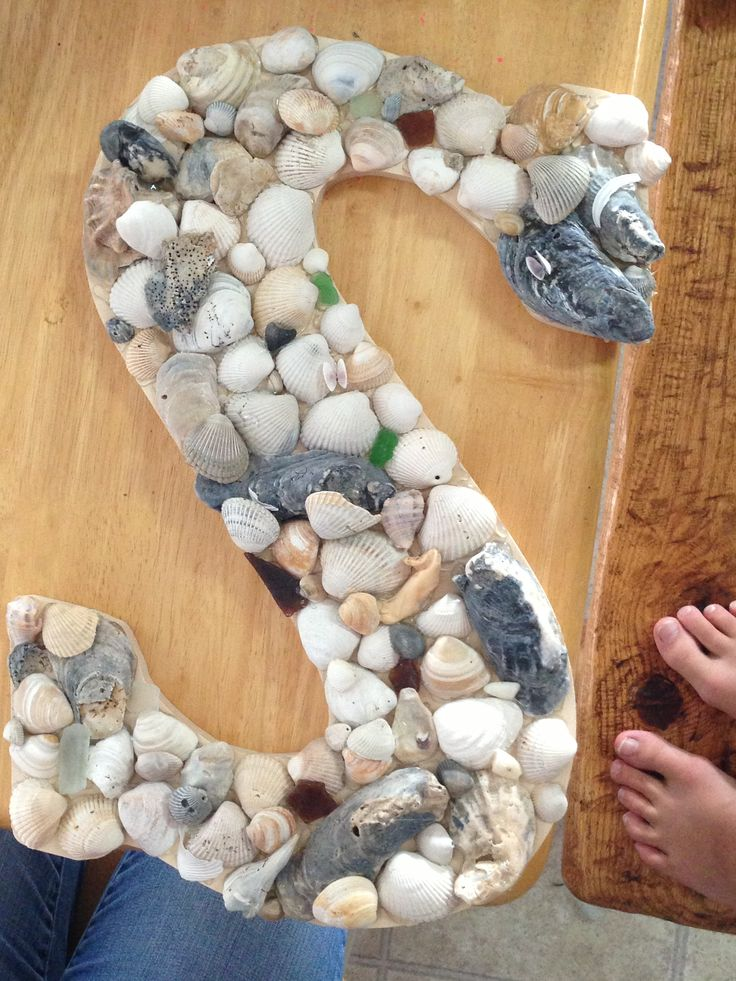 My seashell craft diy crafts i can do this for Sea shell crafts
