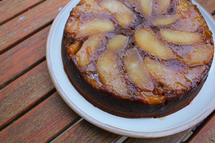 Ginger-Apple Upside-Down Cake   Recipes I want to try   Pinterest