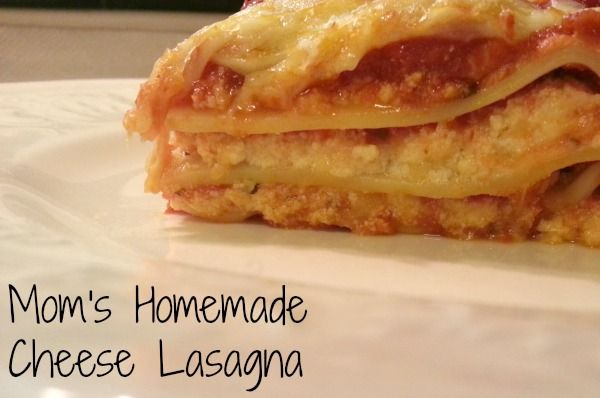 My mom's homemade cheese lasagna recipe. Best lasagna EVER! # ...